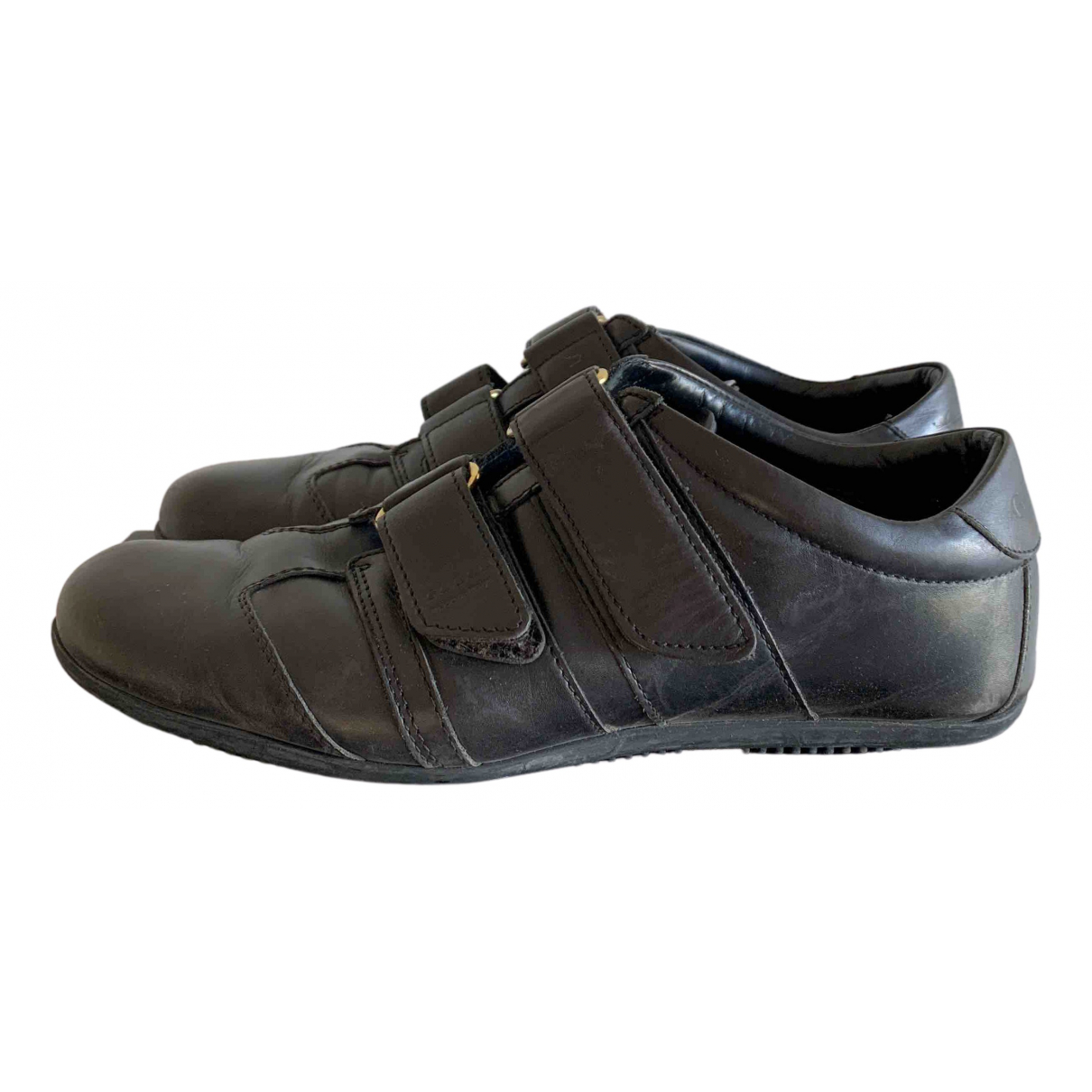 Gucci N Black Leather Trainers for Women 38 EU