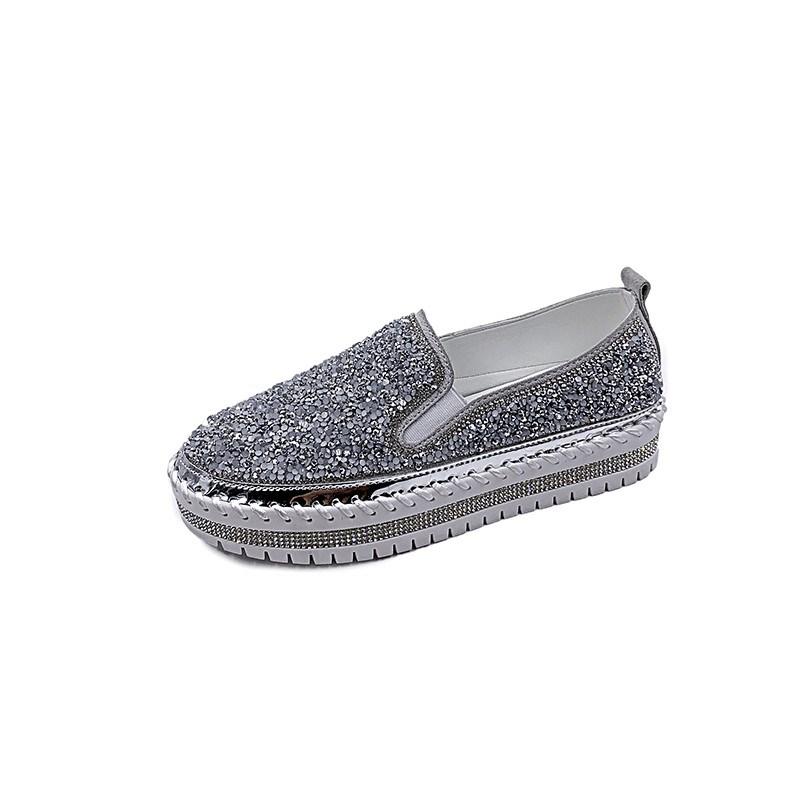 Ericdress Slip-On Round Toe Thread 4cm Thin Shoes