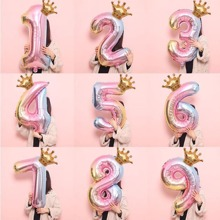 1pc Number Shaped Decoration Balloon