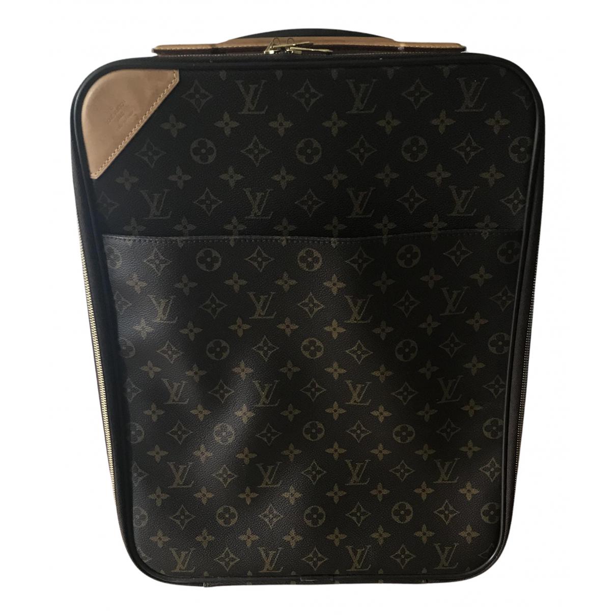 Louis Vuitton Pegase Reisetasche in  Braun Leinen