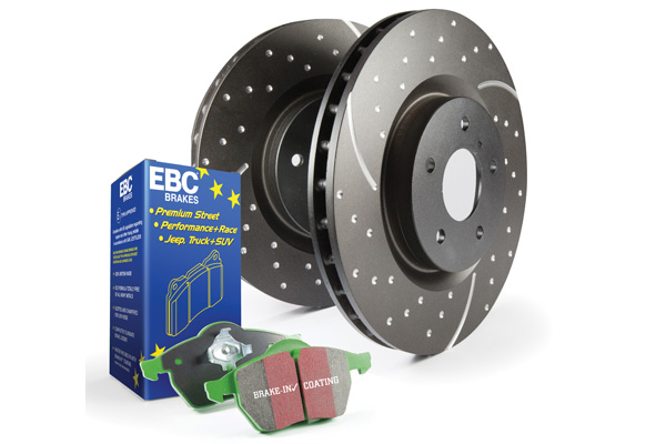 EBC Brakes S10KF1498 S10KF Kit Number Front Disc Brake Pad and Rotor Kit DP2689/2+GD952 Jaguar XJ8 Front 1998-2003 4.0L V8