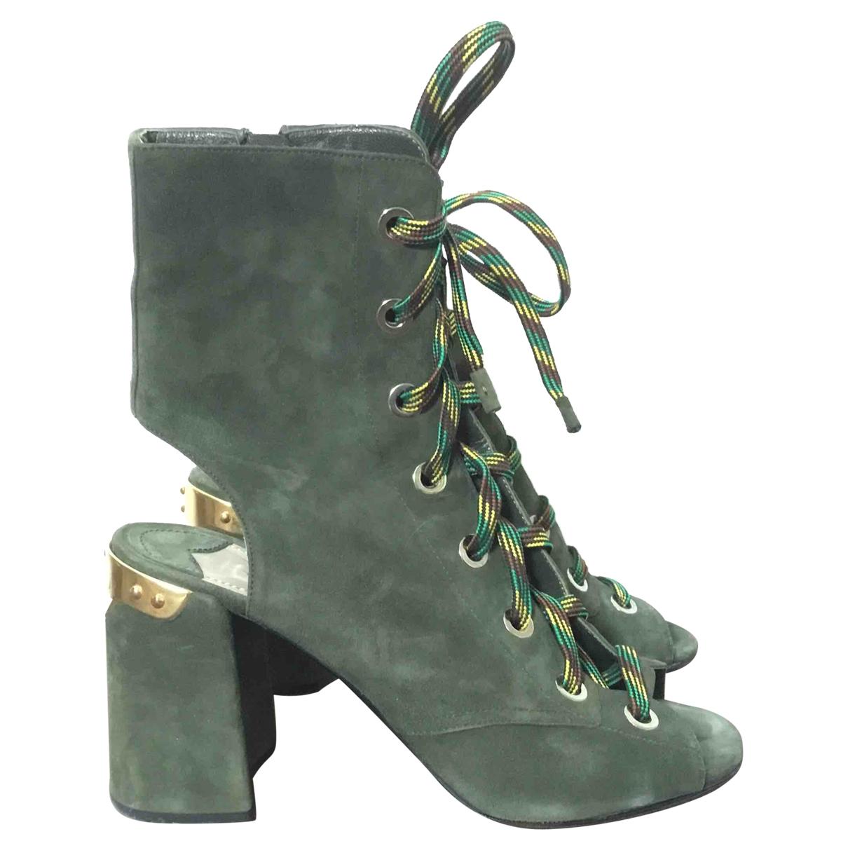 Prada \N Green Suede Sandals for Women 39 EU