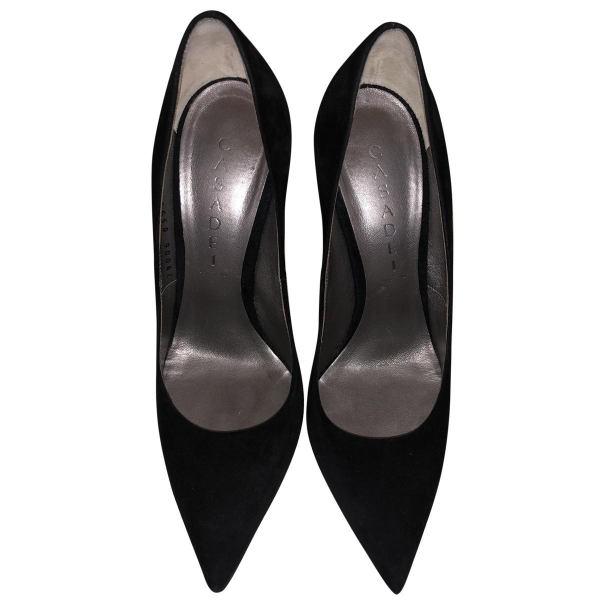 Casadei \N Black Suede Heels for Women 37 EU