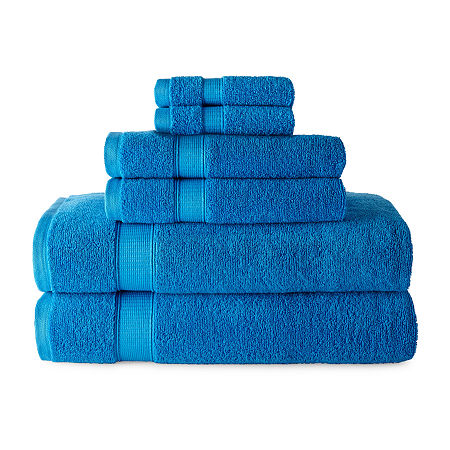 JCPenney Home Performance 6pc Towel Set, One Size , Blue