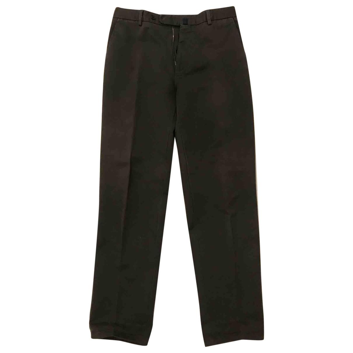 Incotex \N Khaki Cotton Trousers for Men 46 IT