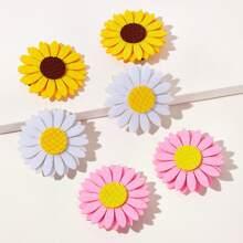 Kleinkind Maedchen Haarklammer mit Sonnenblume Design 6 Stuecke