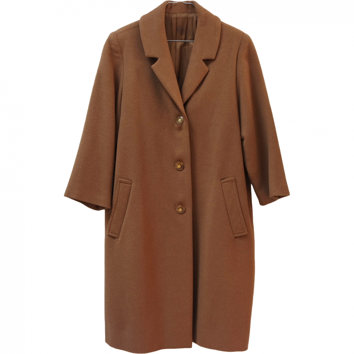 Non Signé / Unsigned \N Camel Cashmere coat for Women 46 IT