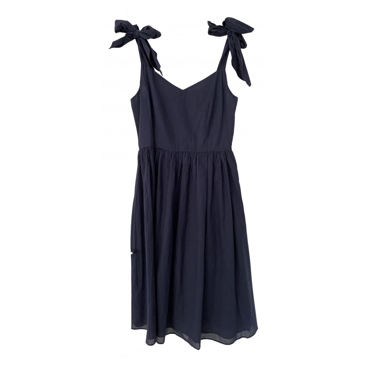 Iris & Ink \N Kleid in  Marine Baumwolle