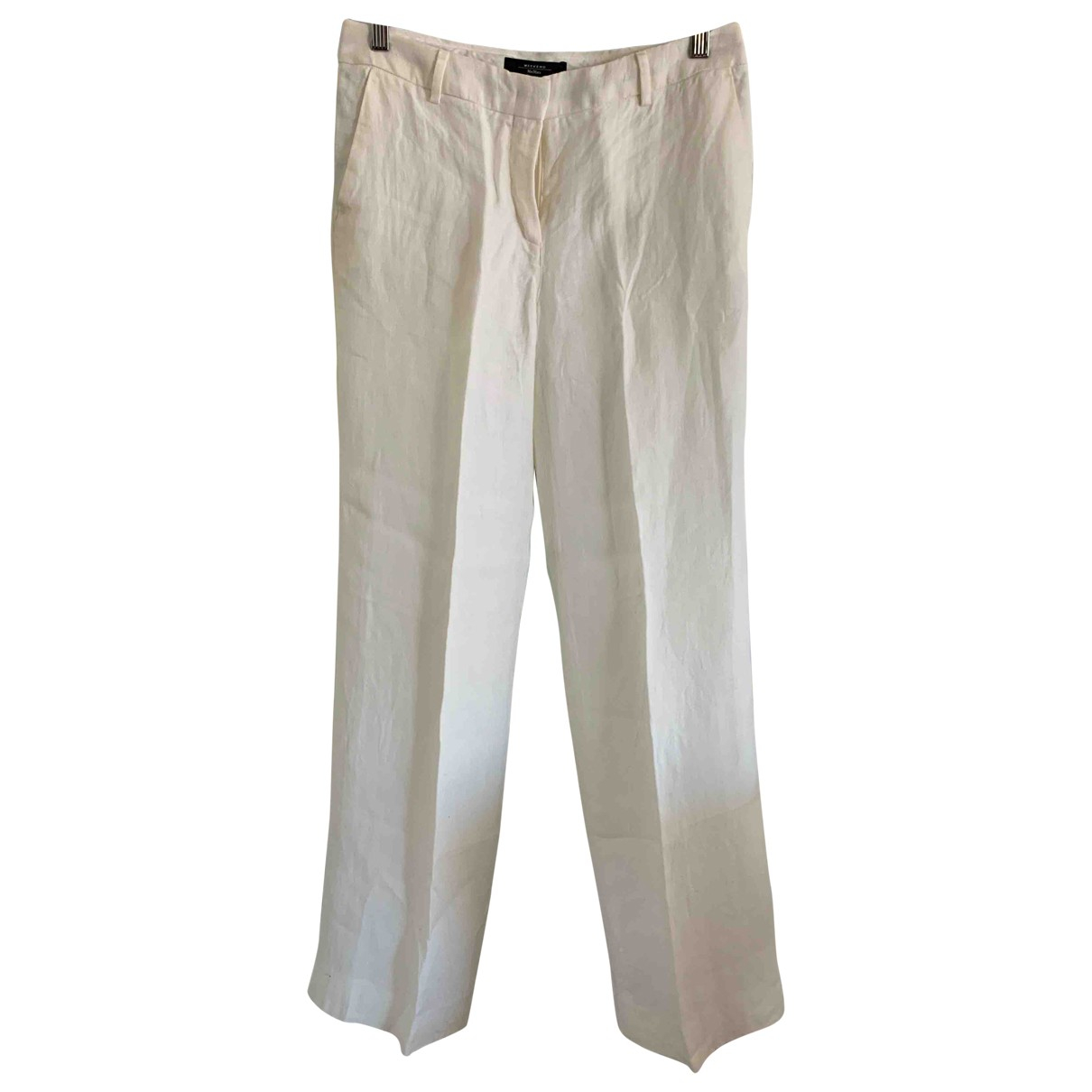 Pantalon largo de Lino Max Mara Weekend