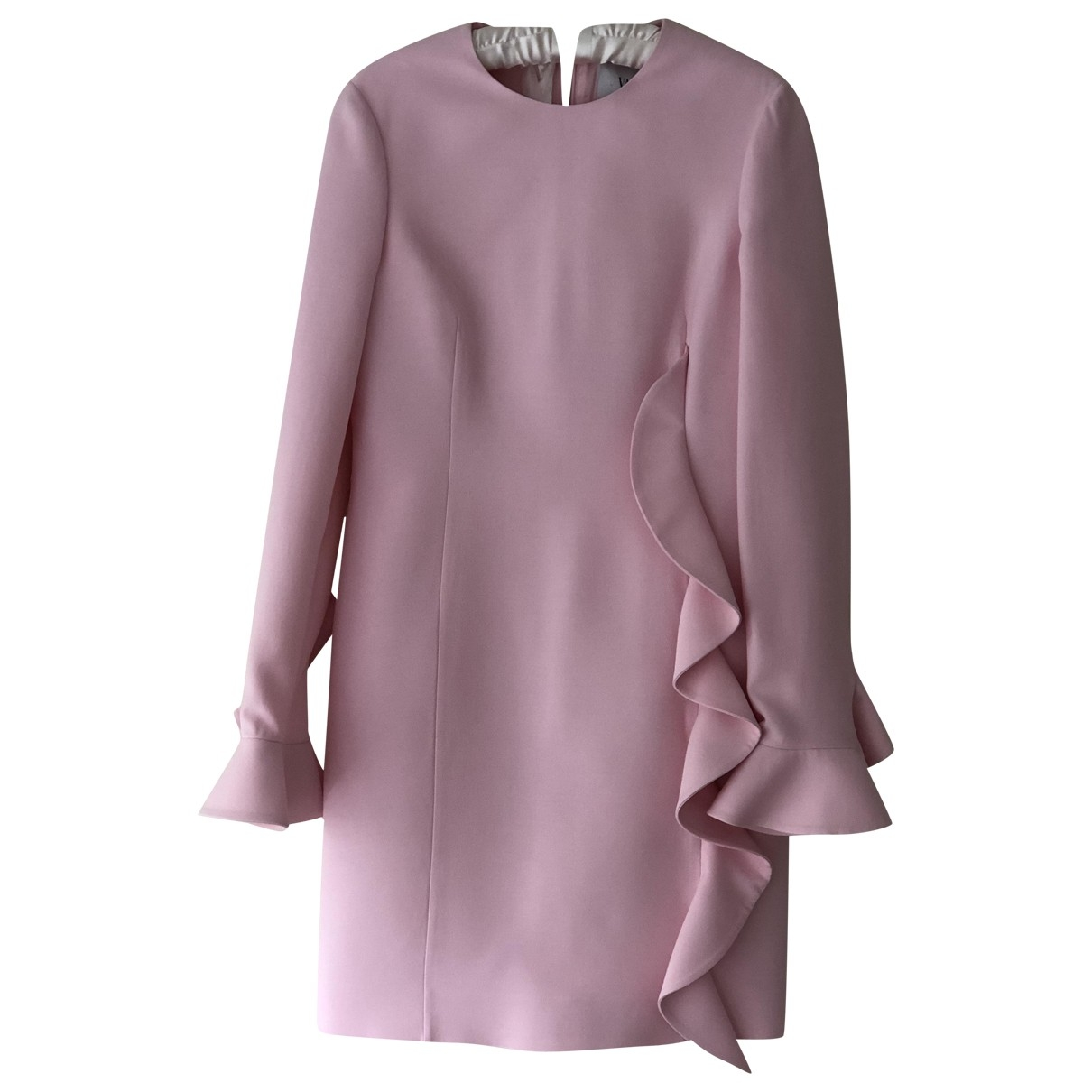 Valentino Garavani \N Kleid in  Rosa Wolle