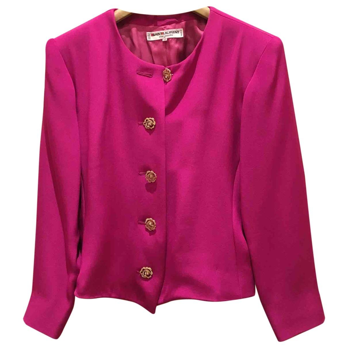 Yves Saint Laurent - Veste   pour femme en soie - rose