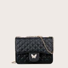 Tasche mit Schmetterling Dekor und Kette
