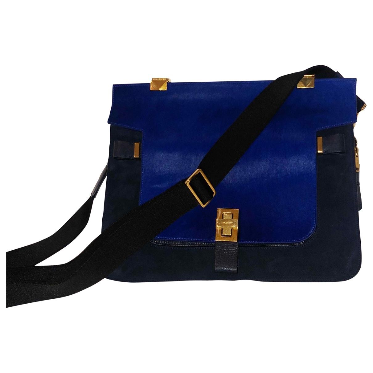 Vionnet \N Handtasche in  Schwarz Veloursleder