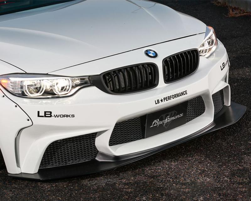 LIberty Walk Front Bumper FRP Diffuser Set BMW 4-Series 14-15