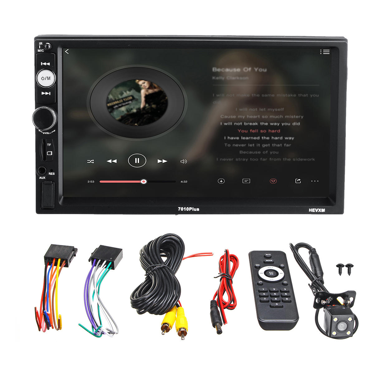 7010Plus 7 Inch 2 Din Touch Car MP5 Player bluetooth Stereo FM Radio USB TF AUX