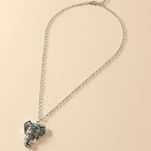 Vintage Elephant Charm Necklace