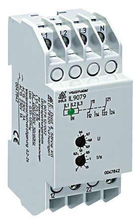 Dold Voltage Monitoring Relay With DPDT Contacts, 230/400 V ac Supply Voltage, 3 Phase, Undervoltage