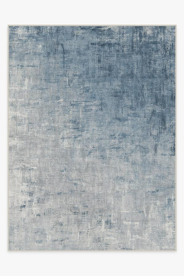 Washable Rug Cover | Impasto Slate Blue Rug | Stain-Resistant | Ruggable | 9'x12'