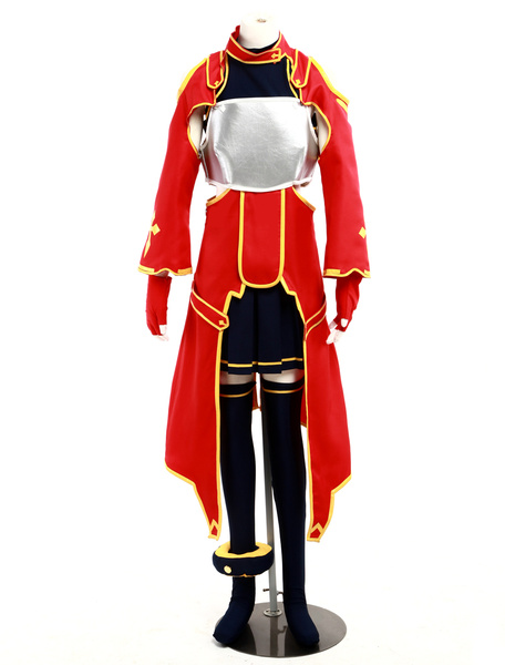 Milanoo Halloween Inspirado por Sword Art Online Sirika Silica Halloween Cosplay Disfraz Roja Version
