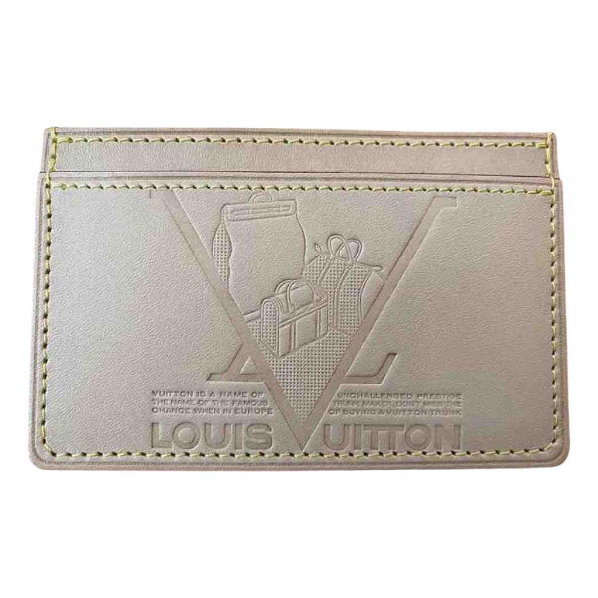 Louis Vuitton - Petite maroquinerie   pour homme en cuir - beige