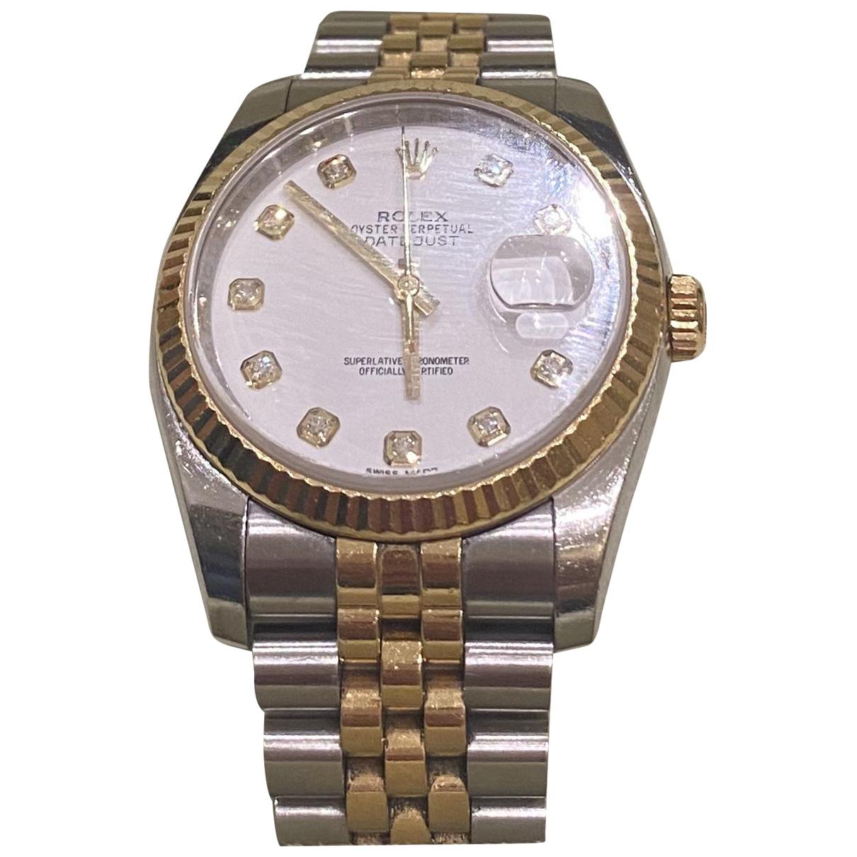 Rolex Datejust 36mm Uhr in  Grau Weissgold