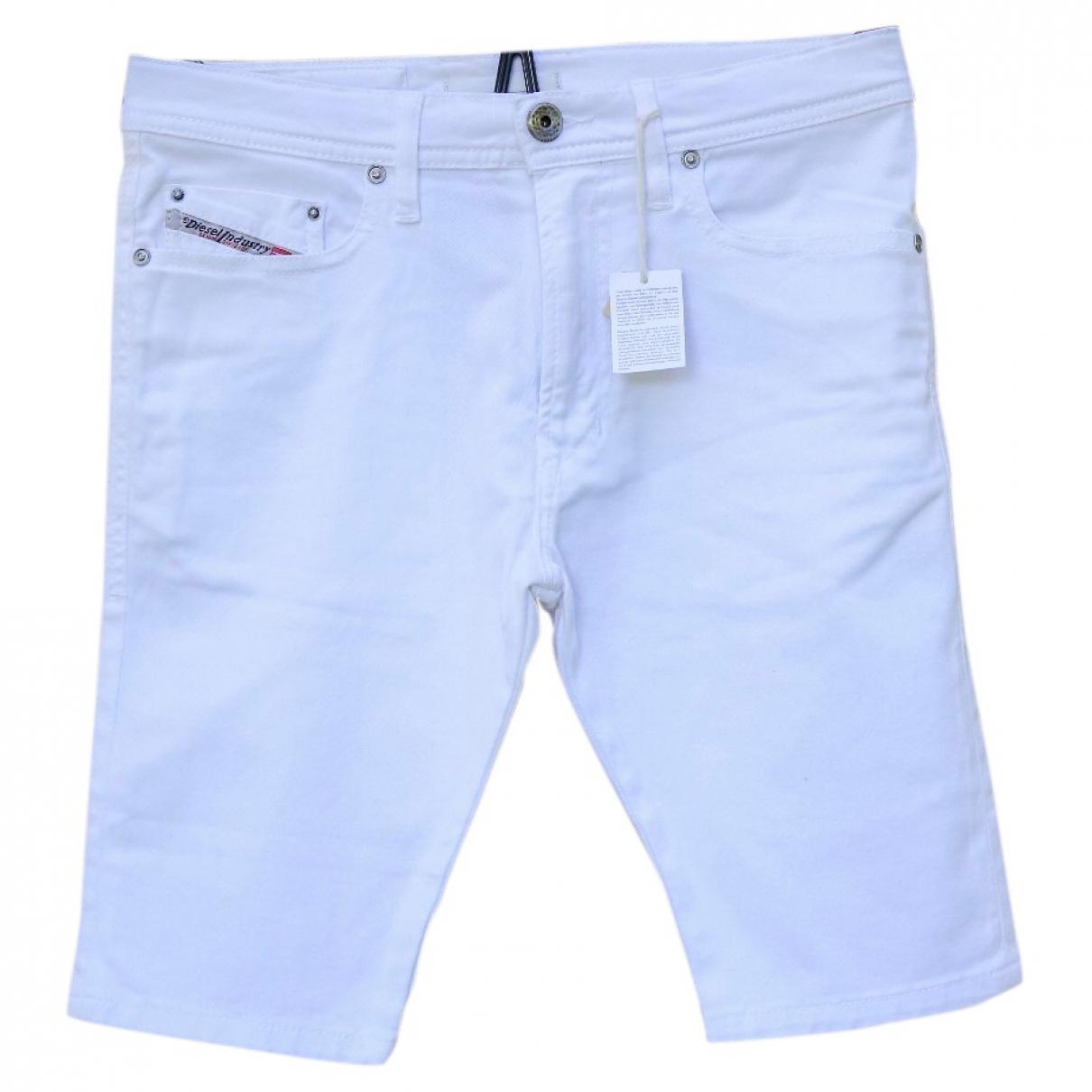 Diesel - Pantalon   pour enfant en coton - blanc