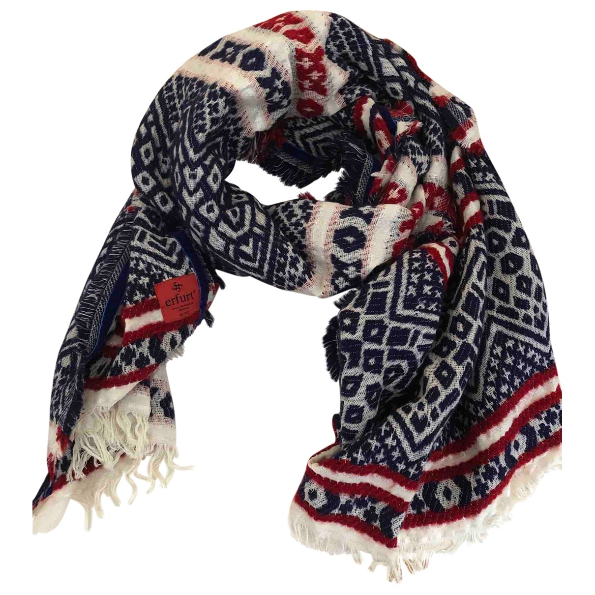 Non Signé / Unsigned \N Blue scarf for Women \N