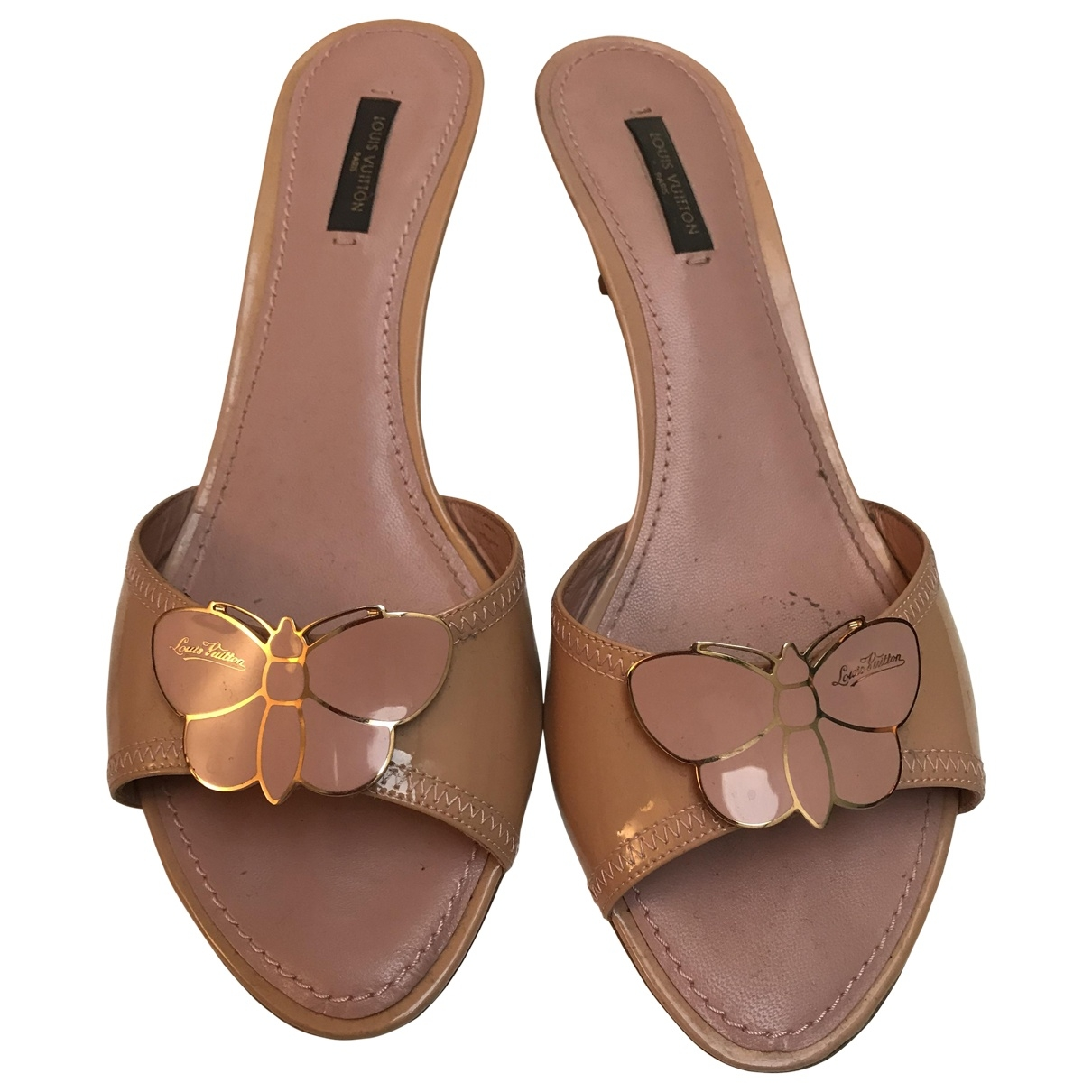Louis Vuitton \N Pink Patent leather Sandals for Women 39 EU