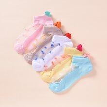 5 Paare Kleinkind Maedchen Socken mit Netz Stich