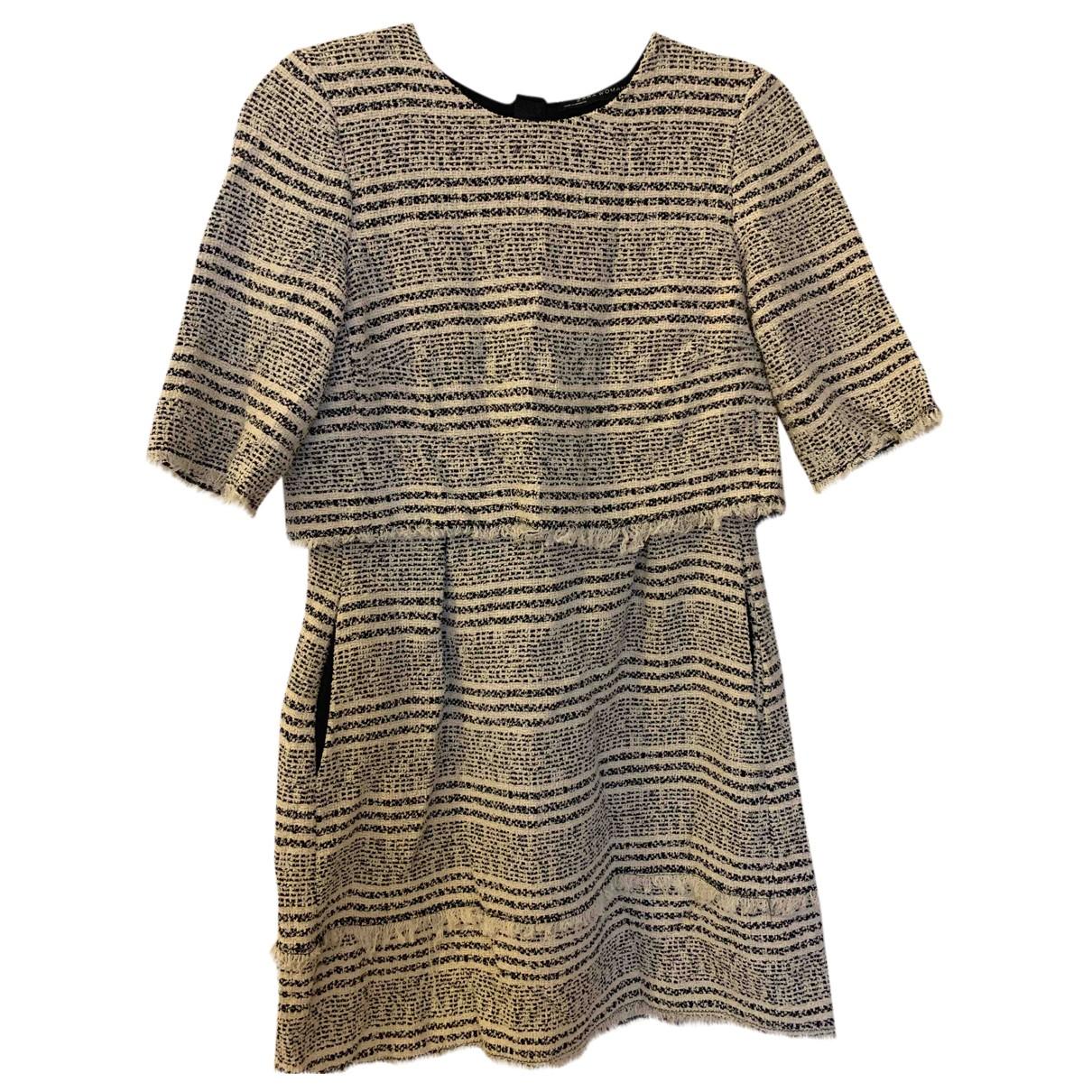 Zara \N Kleid in  Bunt Tweed