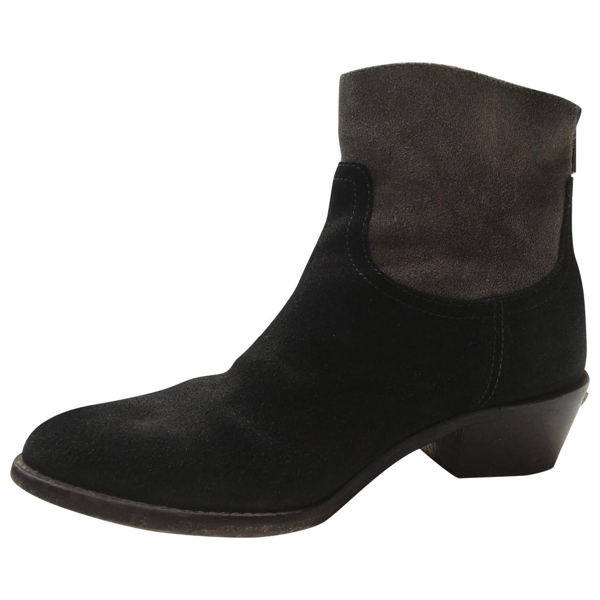Zadig & Voltaire - Boots Teddy pour femme en suede - noir