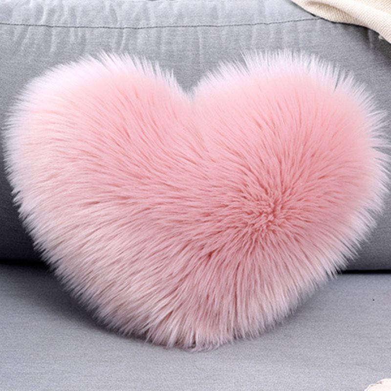 Heart-shaped Plush Throw Pillow Cotton Pillow/Cushion 6 Colours Contain The Pillow Core