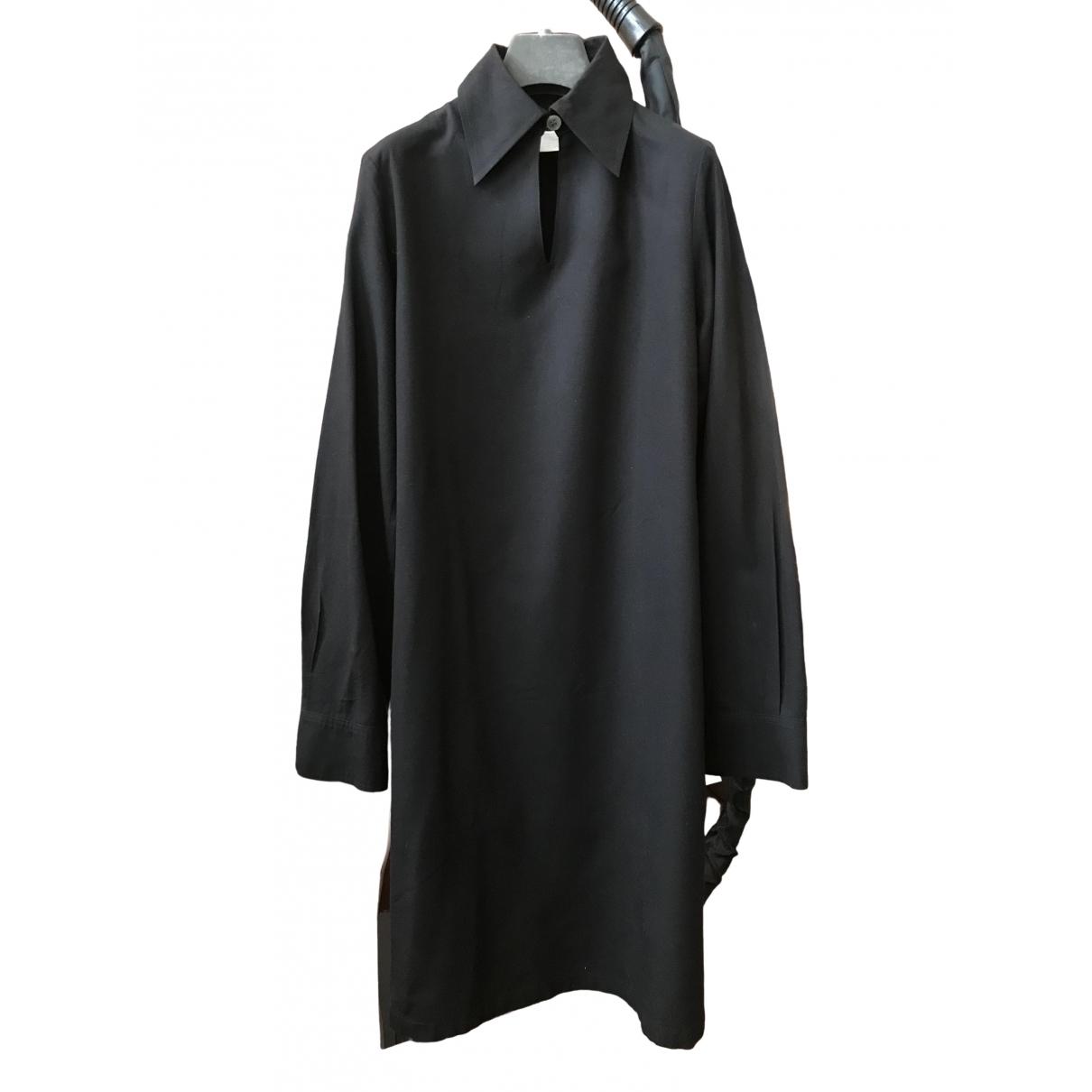 Yohji Yamamoto \N Kleid in  Schwarz Synthetik