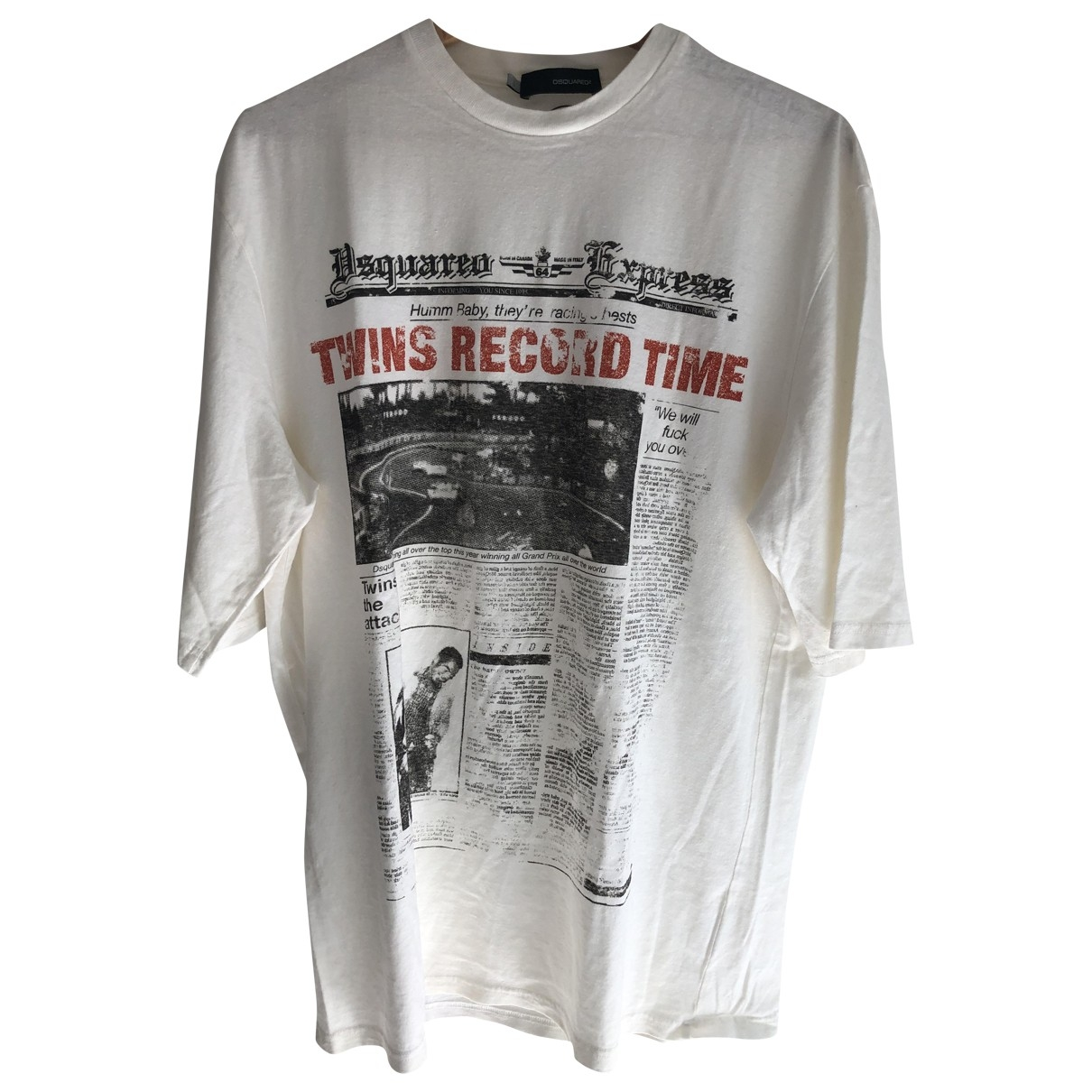 Dsquared2 \N White Cotton T-shirts for Men L International