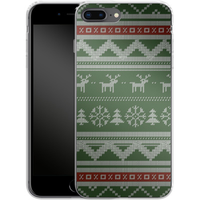 Apple iPhone 8 Plus Silikon Handyhuelle - Norwegian Jumper Green von caseable Designs