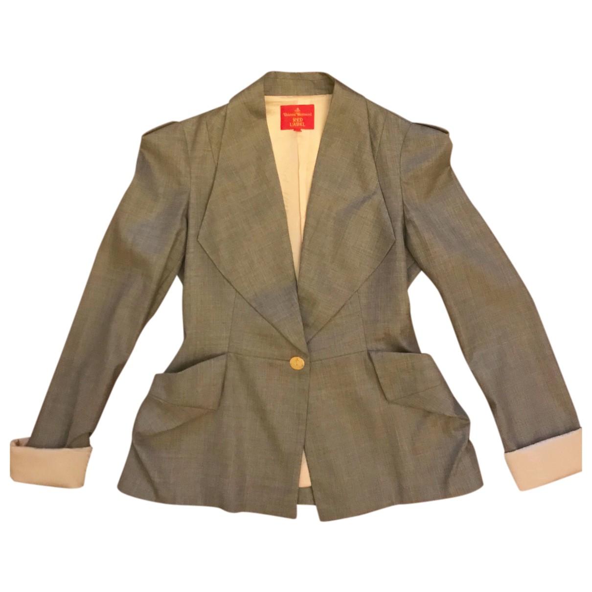 Vivienne Westwood - Veste   pour femme en laine - gris