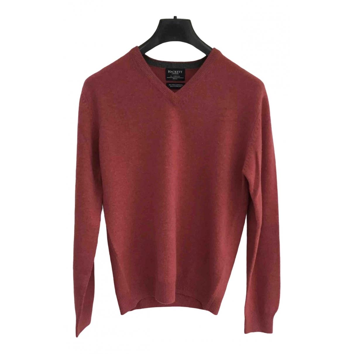 Hackett London \N Pullover.Westen.Sweatshirts  in  Rosa Wolle