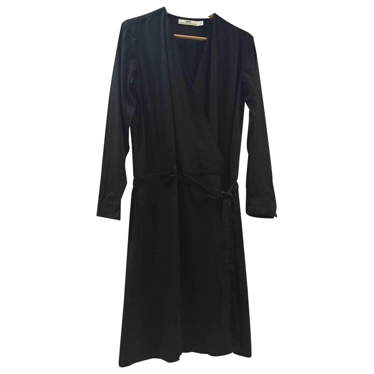 Hope \N Kleid in  Schwarz Baumwolle
