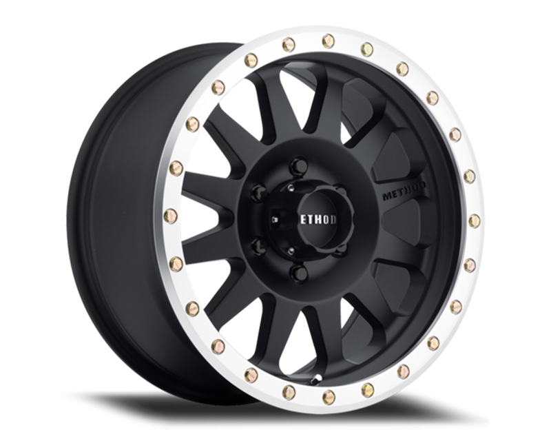 Method MR304 Double Standard Matte Black Center Machined Lip Wheel 15x8 5x4.5 -24mm