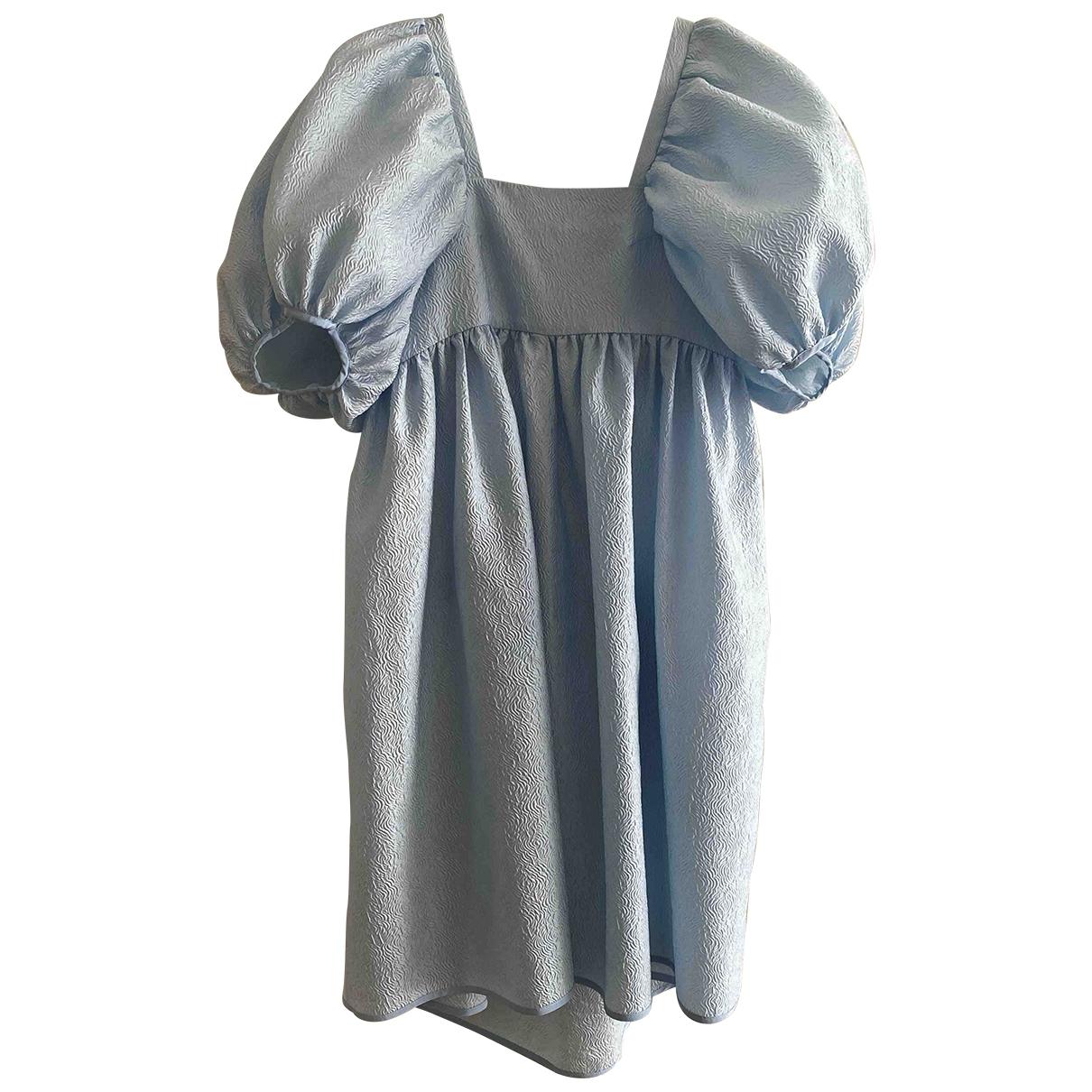 Cecilie Bahnsen \N Kleid in  Blau Seide