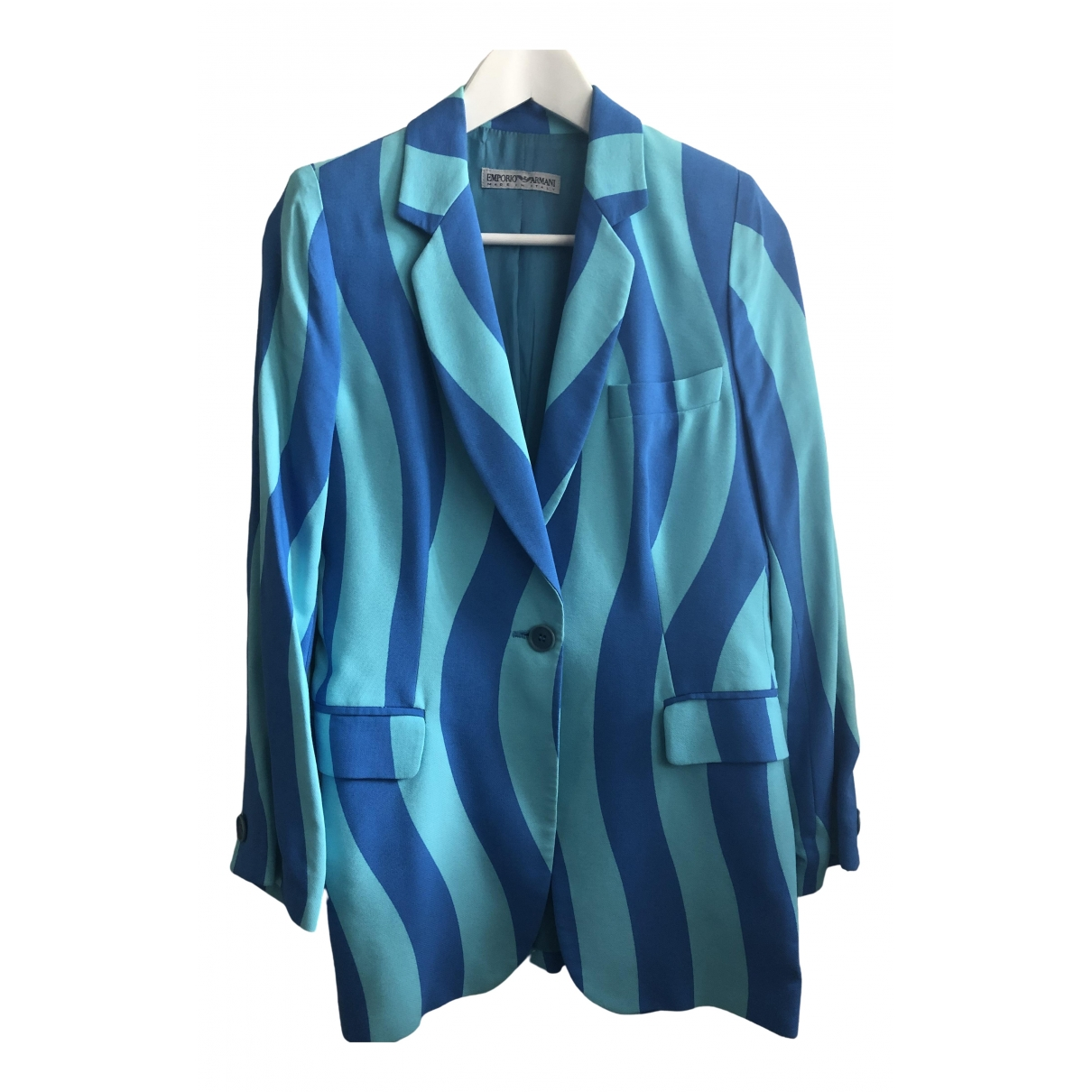 Emporio Armani \N Blue jacket for Women 40 IT