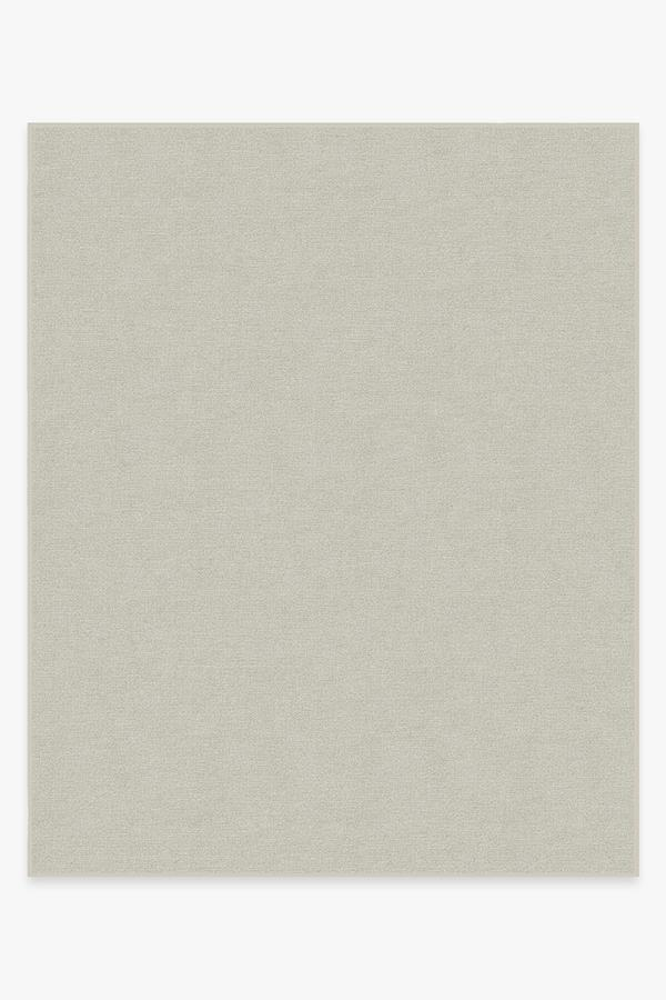 Washable Rug Cover & Pad | Heathered Solid Dove Grey Rug | Stain-Resistant | Ruggable | 8'x10'
