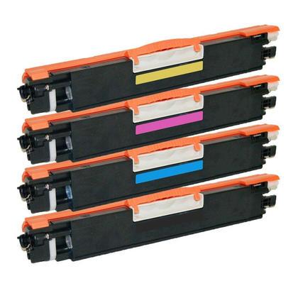 Compatible HP 126A cartouche de toner combo BK/C/M/Y - boite economique