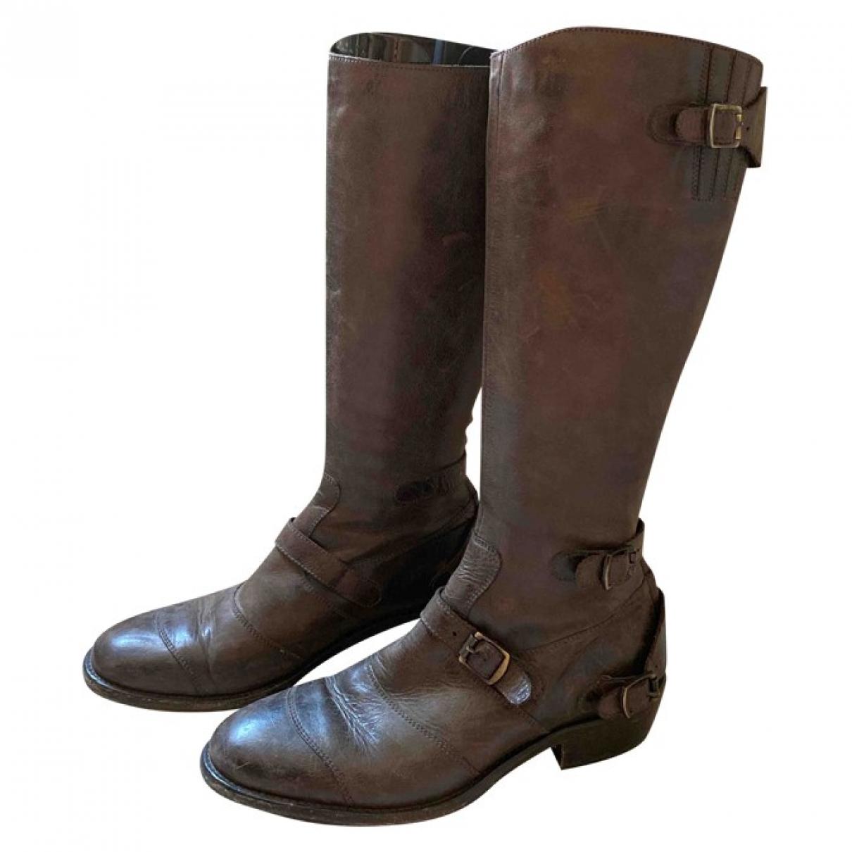 Belstaff \N Stiefel in  Braun Leder