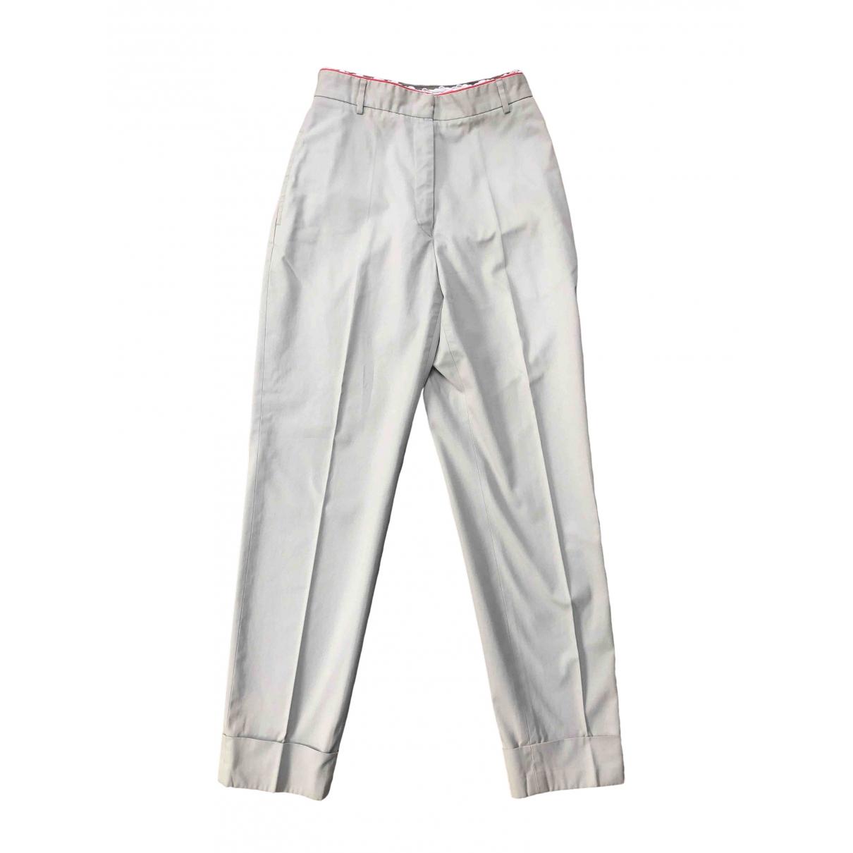 Paul Smith \N Beige Cotton Trousers for Women 42 IT