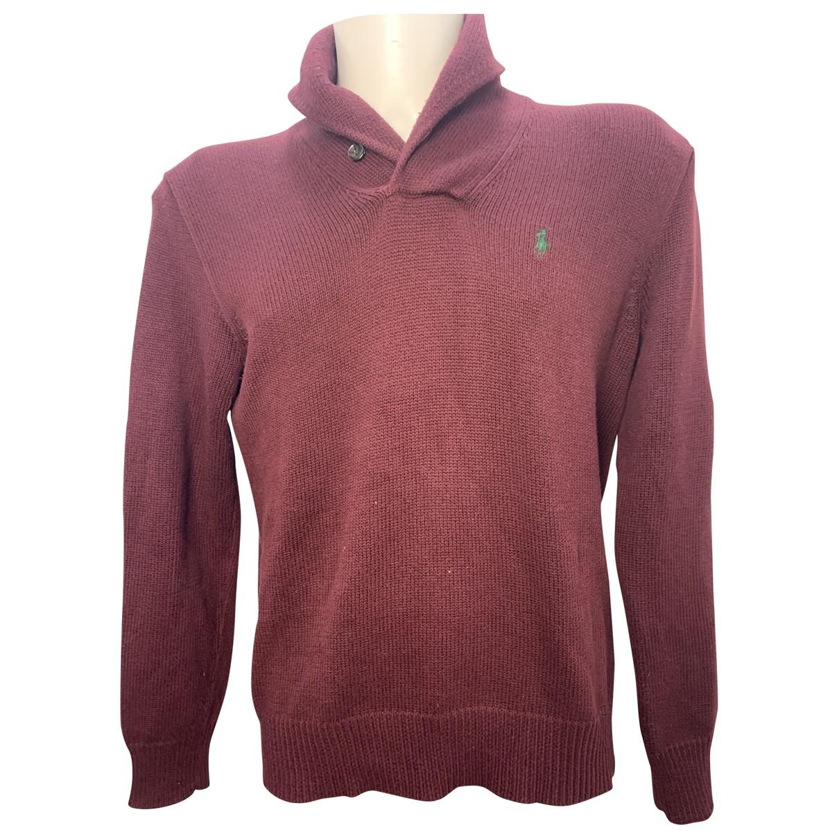 Polo Ralph Lauren - Pulls.Gilets.Sweats   pour homme en coton - bordeaux