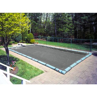Robelle Mesh Winter Cover for In-ground Pools (18 x 40 - Gray/Black)
