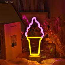 Luz nocturna en forma de helado