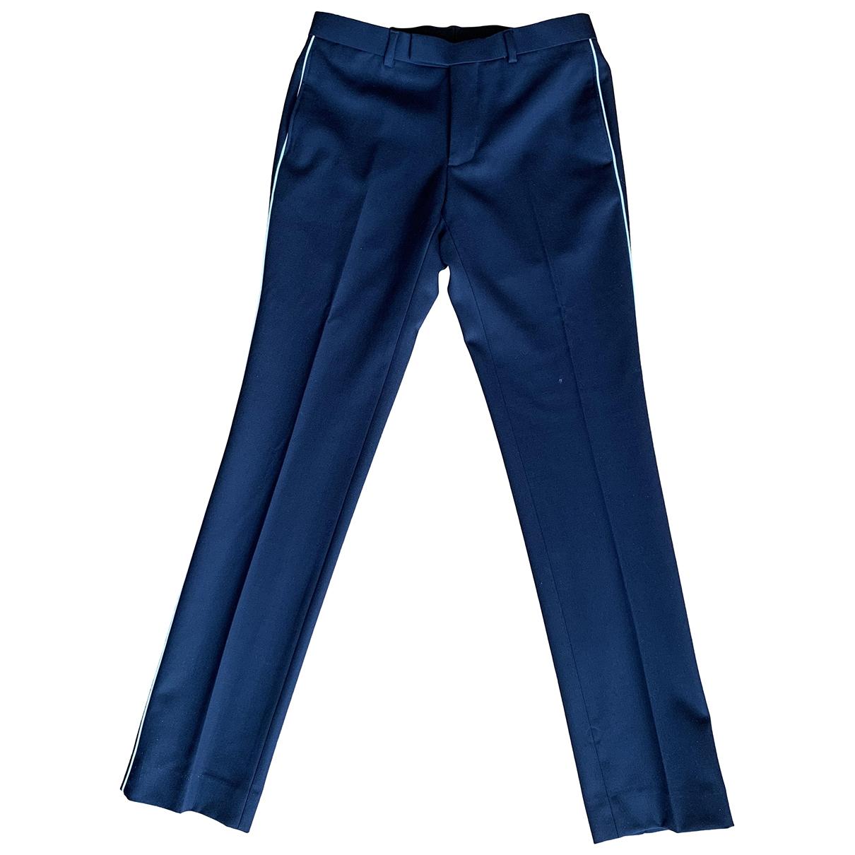 Sandro \N Navy Wool Trousers for Men 38 FR