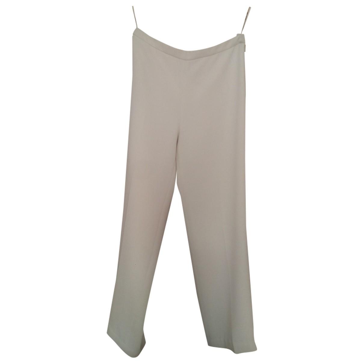 Calvin Klein \N White Trousers for Women 4 US